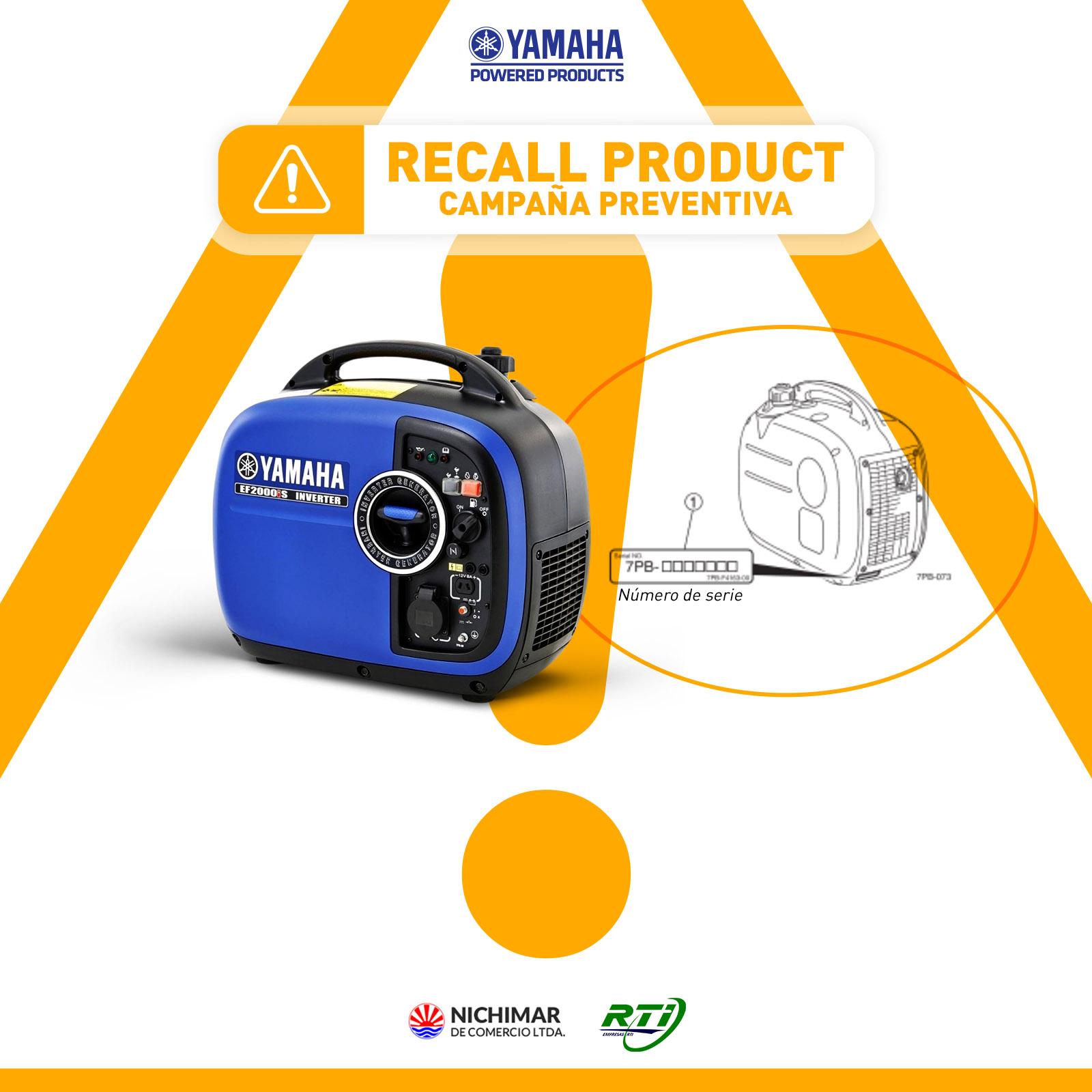 RECALL DE PRODUCTO Yamaha EF2000is